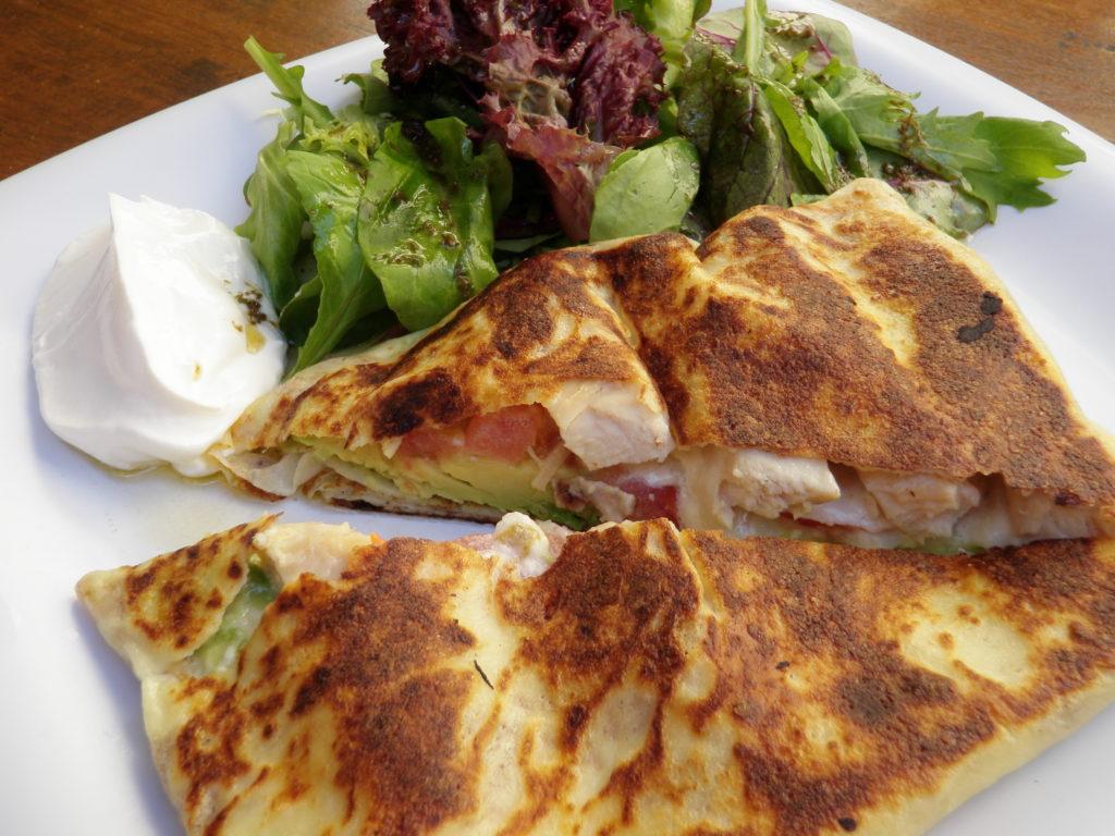 Crepe and salad